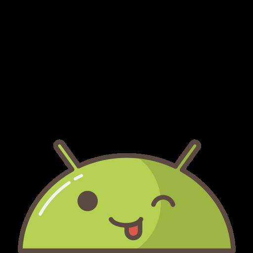 android, emoji, happy, joke, mobile, mood, tounge icon