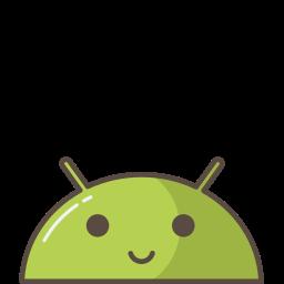 android, emoji, happy, mobile, mood, robot, smile icon