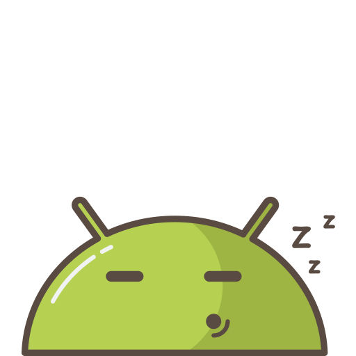 android, mobile, robot, sleeping, tired icon