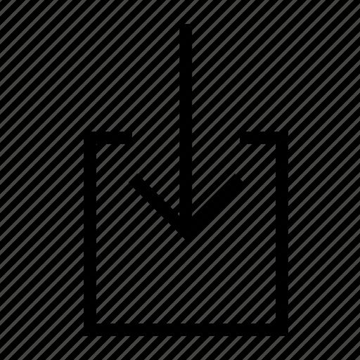 arrow, down, download, import, move icon