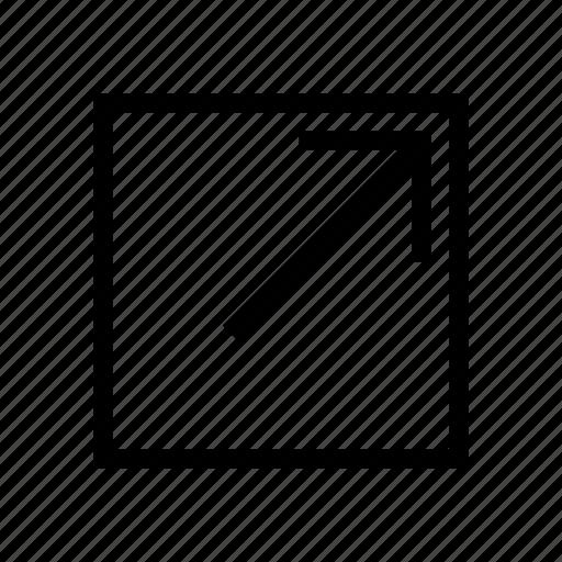 arrow, move, new, open, tab, window icon