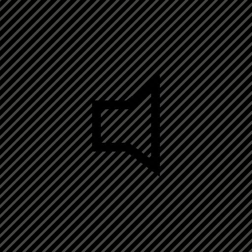 audio, loudspeaker, mute, sound, volume icon