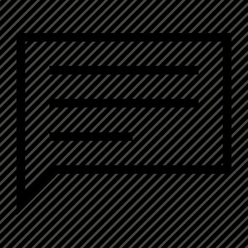 announcement, bubble, comment, review, talk icon