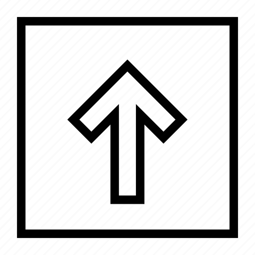 arrow, direction, forward, move, up, upload icon