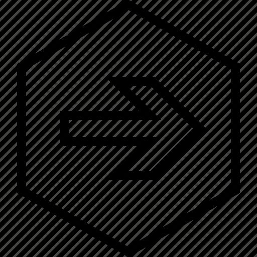 arrow, direction, forward, move, next, right icon