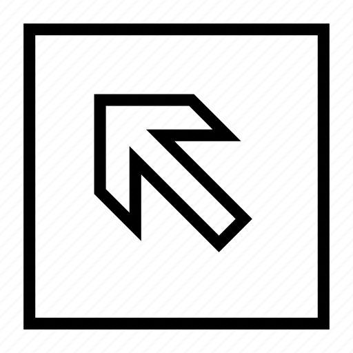 arrow, direction, left, move, top icon
