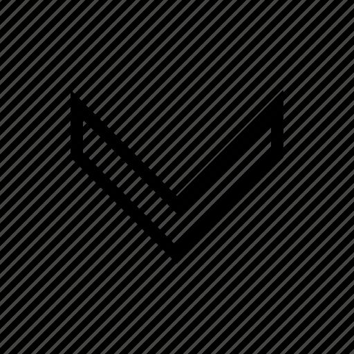 arrow, backward, direction, down, download icon