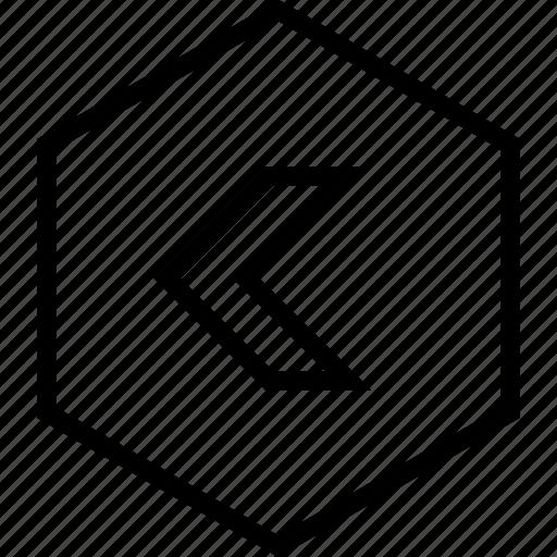 arrow, back, backward, direction, left, move icon