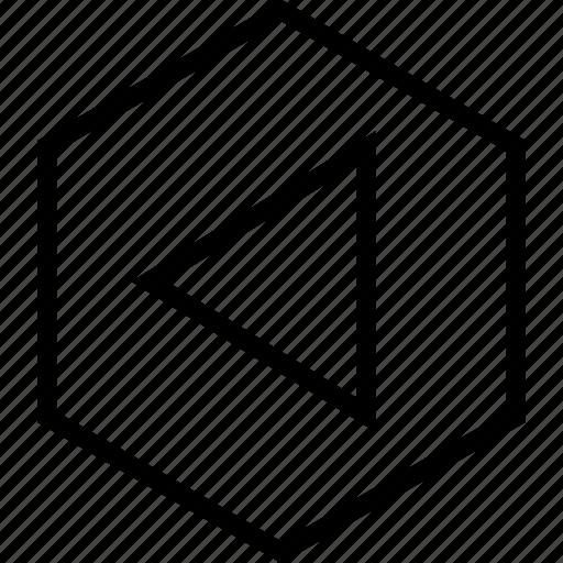 arrow, back, backward, left, move icon