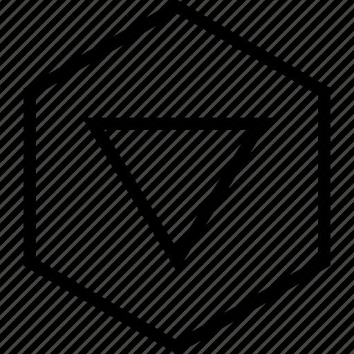 arrow, backward, down, download, move, pointer icon