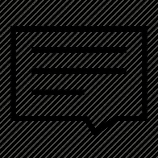 bubble, comment, content, review, talk, text, type icon