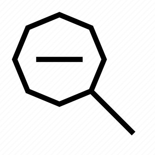 content, editor, glass, magnifier, magnifying, out, zoom icon