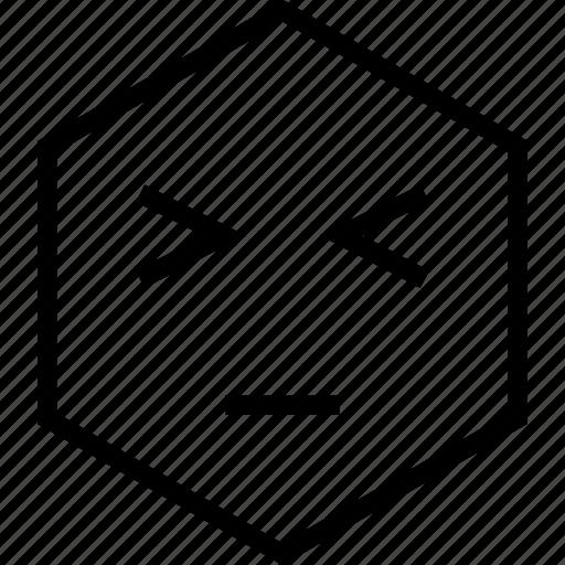 avatar, bored, dull, emoji, emotion, face, wink icon