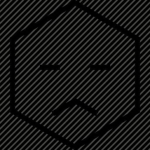 avatar, bored, emoji, emotion, face, sad, unsure icon