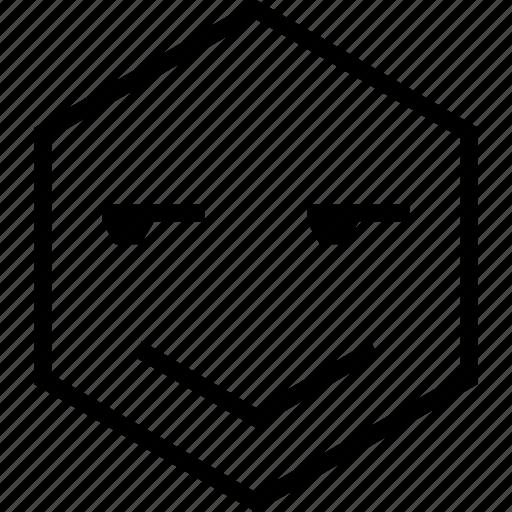 avatar, doubt, emoji, emotion, face, happy, smile icon