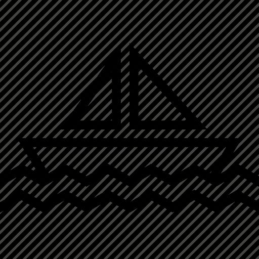 boat, sail, sea, ship, transport icon