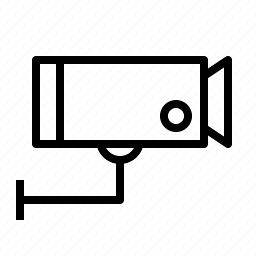aniacon, camera, cctv, record, security, stroke, video icon