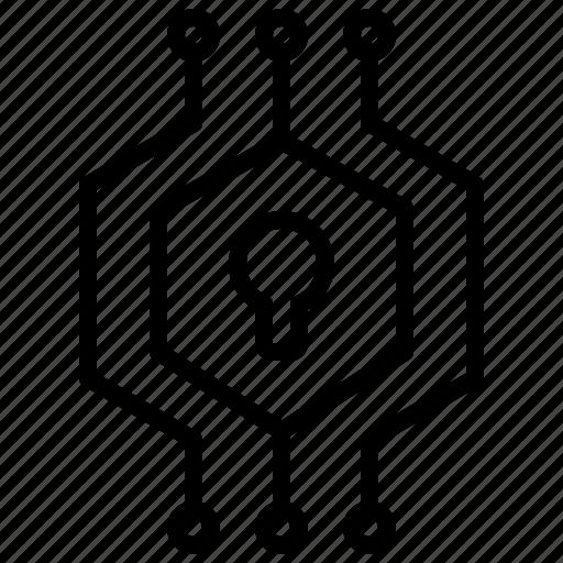 aniacon, crypto, digital, encrypt, security, stroke icon