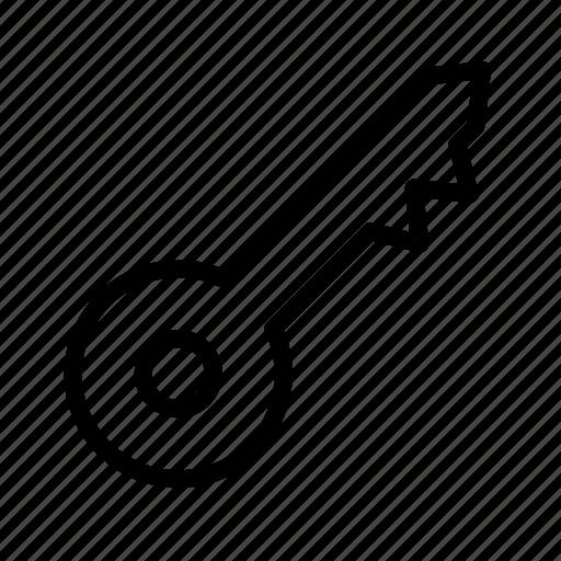 aniacon, key, security, stroke icon