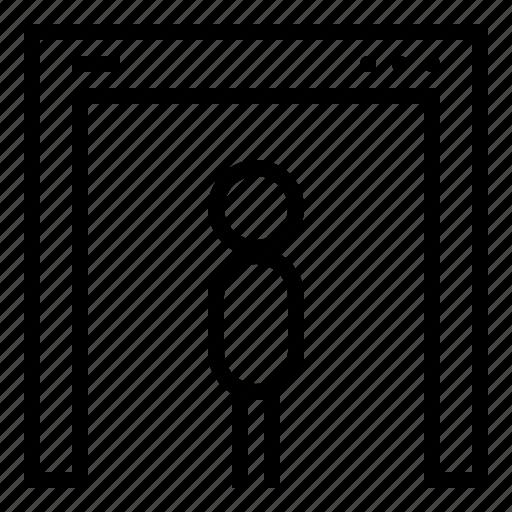aniacon, human, scan, security, stroke, terminal icon