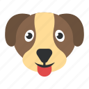 animal, cur, dog, foxhound, puppy face icon