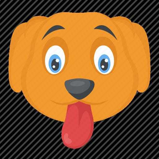 animal, cur, dog, foxhound, puppy face icon