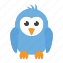 animal, bird, cartoon character, dove, sparrow icon