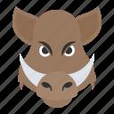 african pig, animal, boar, common warthog, jungle, wildlife icon