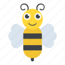 bumblebee, cartoon bee, fly, honey bee, insect icon