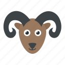 animal, antelope, chamois, mouflon, mountain goat icon