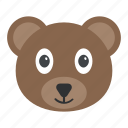animal, baby toy, bear head, cartoon character, wild life