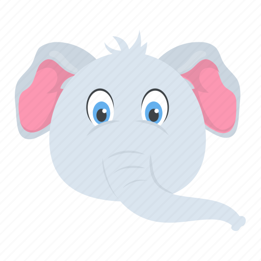 Elephant, mammal, pachyderm, wild animal, zoo icon - Download on Iconfinder
