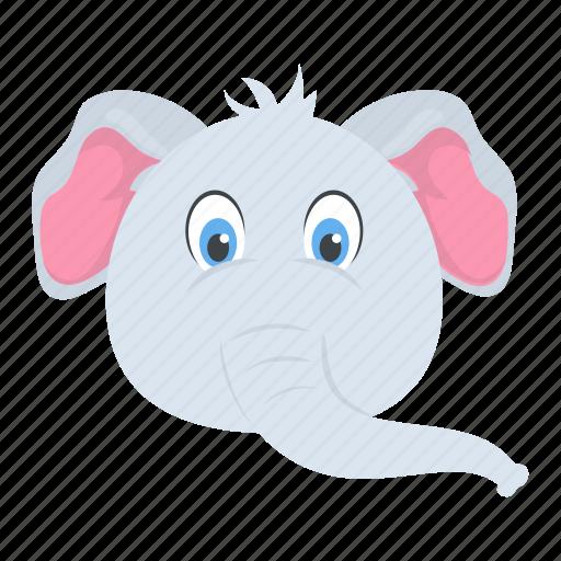elephant, mammal, pachyderm, wild animal, zoo icon