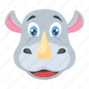 animal, jungle, rhino, rhinoceros, wildlife, zoo icon