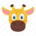 animal, camelopard, giraffe, largest ruminant, mammal icon