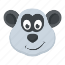 animal, bear, panda face, polar panda, zoo character icon