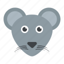 field mouse, jerboa, mouse face, rat, shrew icon