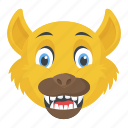 beast head, cartoon beast, jungle life, wild animal, wildlife icon