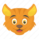 animal, cartoon character, cub, lion face, wildlife
