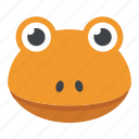 amphibian, animal, chameleon, frog face, toad icon