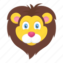 animal, jungle king, lion, wild animal, zoo icon