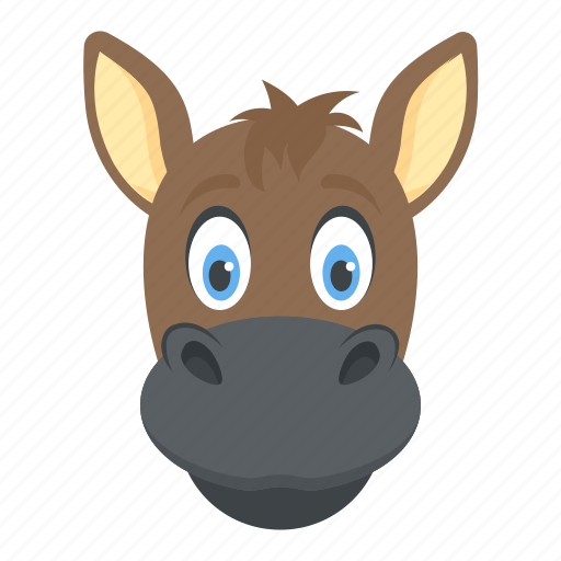 Animal, ass, donkey, mule, okapi icon - Download on Iconfinder