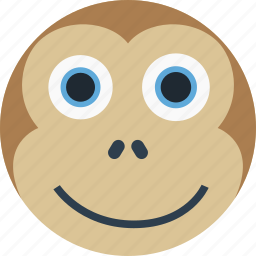 animal, avatar, cartoon, face, forest, monkey, the zoo icon