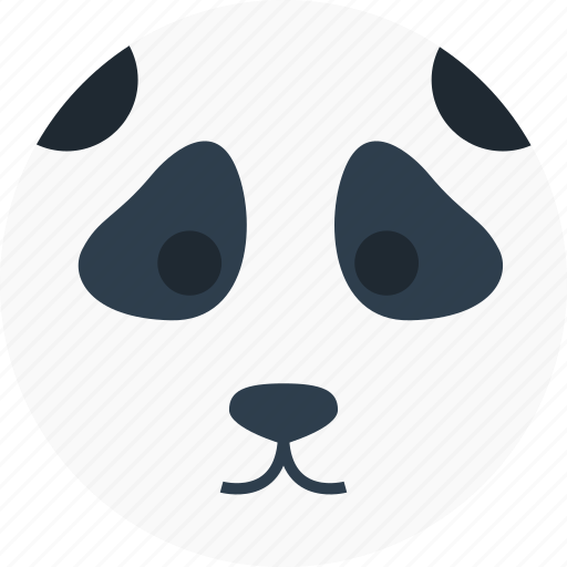animal, cartoon, face, forest, panda, the zoo icon