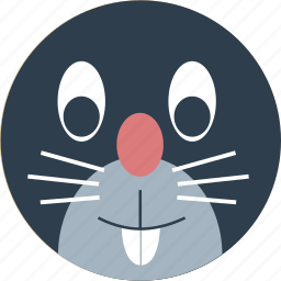 animal, cartoon, face, mouse, pet, rodents icon