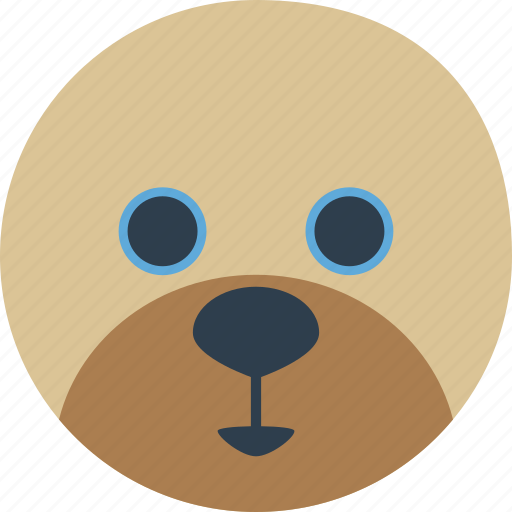 animal, bear, cartoon, face, honey, smile icon