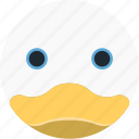 animal, avatar, cartoon, duck, face, pet, smile icon