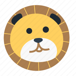animal, avatar, cartoon, face, forest, lion, the zoo icon