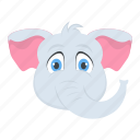 elephant baby, mammal, pachyderm, wild animal, zoo icon