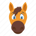 bronco, colt, domestic animal, horse, mare icon
